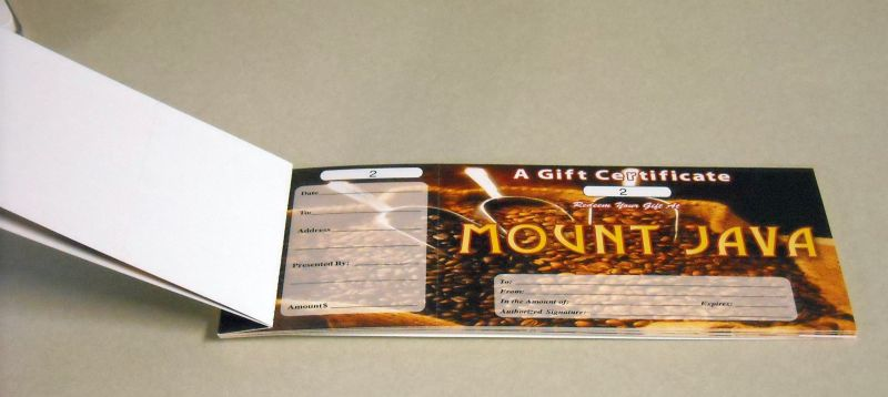 gift certificate books product catagory product pages