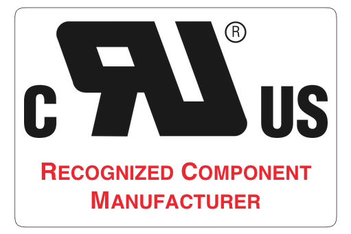 Recognized UL Component Manufacturer
