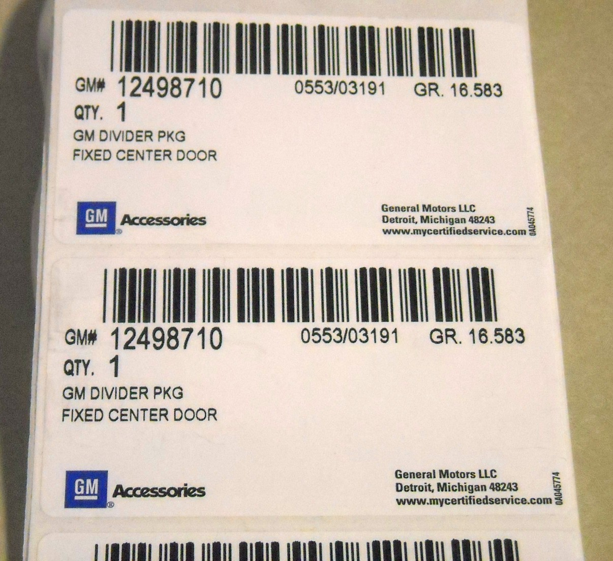 Container Dunnage Sample Labels Product Pages