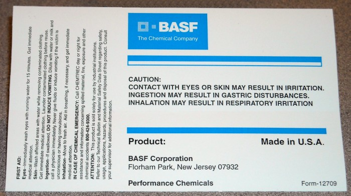 basf performance chemical labels lg
