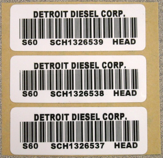 detroit diesel engine label lg