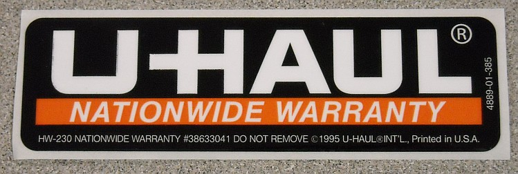U-Haul Label